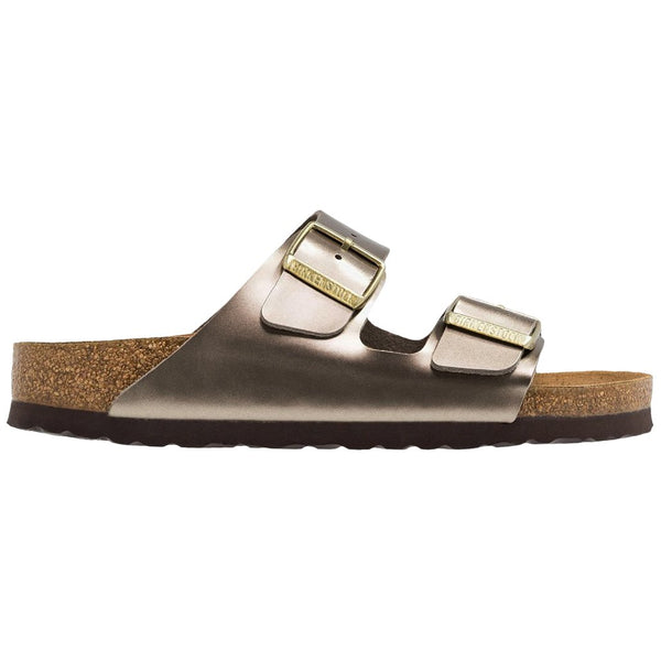 Birkenstock Arizona Electric Metallic Birko-Flor Unisex Sandals#color_taupe