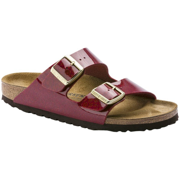 Birkenstock Arizona Magic Snake Birko-Flor Unisex Sandals#color_bordeaux