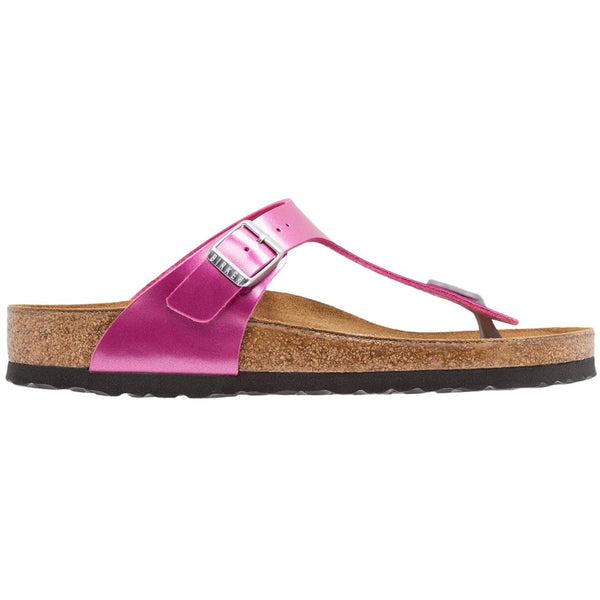 Birkenstock Gizeh Electric Metallic Birko-Flor Unisex Sandals#color_magenta
