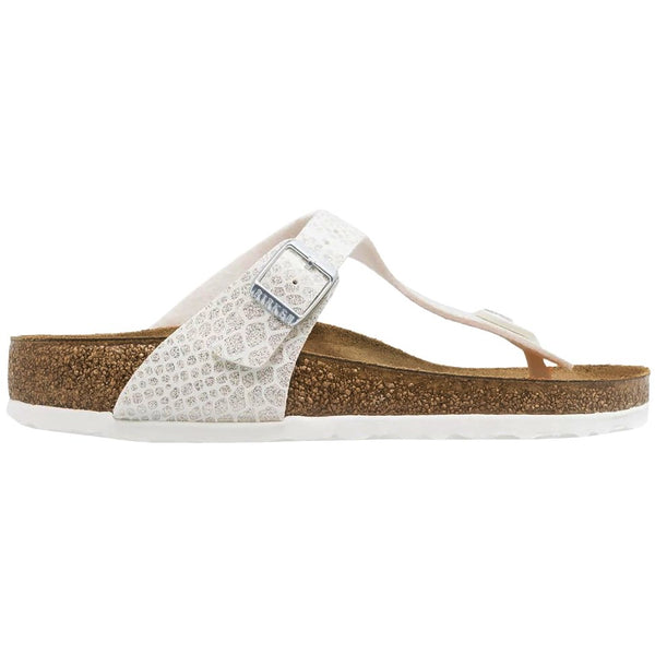 Birkenstock Gizeh Magic Snake Birko-Flor Unisex Sandals#color_white