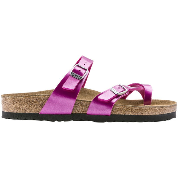 Birkenstock Mayari Electric Metallic Birko-Flor Unisex Sandals#color_magenta