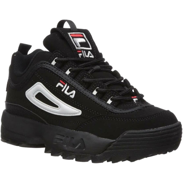 Fila Disruptor II Synthetic Youth Trainers#color_black white red
