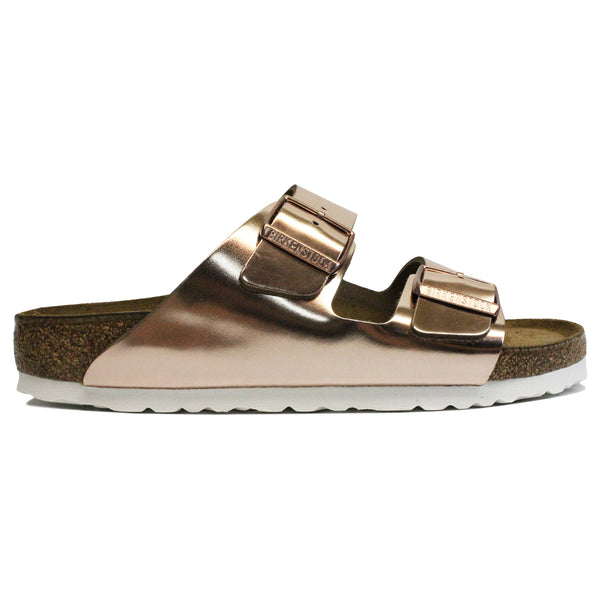 Birkenstock Arizona Soft Footbed Natural Leather Womens Sandals#color_copper