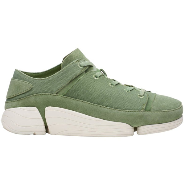 Clarks Originals Trigenic Evo Suede Textile Mens Trainers#color_cactus green
