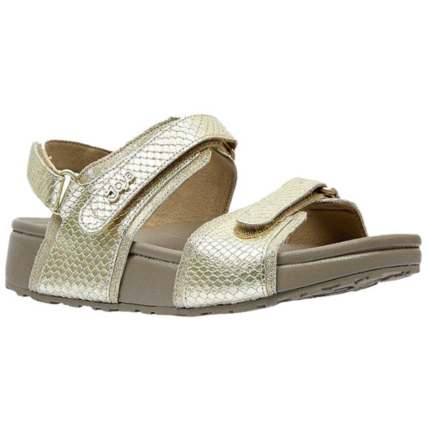 Joya Amalfi II Leather Synthetic Womens Sandals#color_champagne