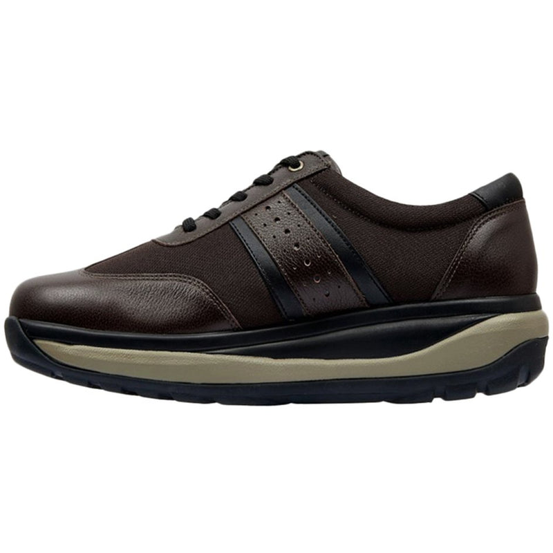 Joya David Leather Textile Mens Trainers