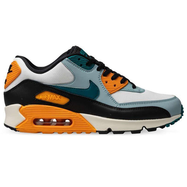 Nike Air Max 90 Essential Leather Textile Mens Trainers#color_sail geode teal kumquat