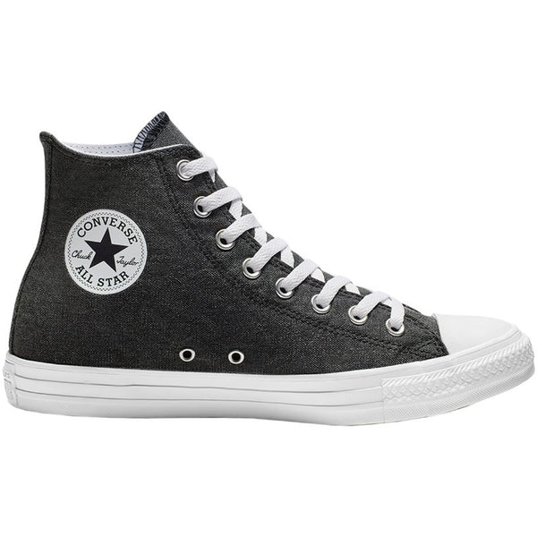 Converse CTAS Stone Wash Hi Canvas Unisex Trainers#color_black white