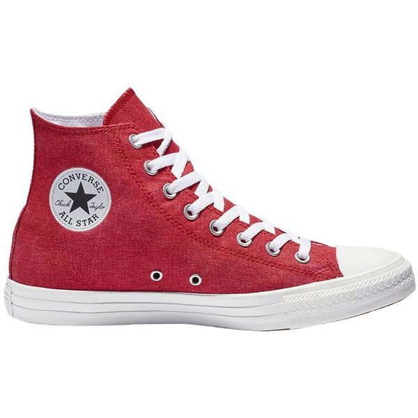 Converse CTAS Stone Wash Hi Canvas Unisex Trainers#color_enamel red white