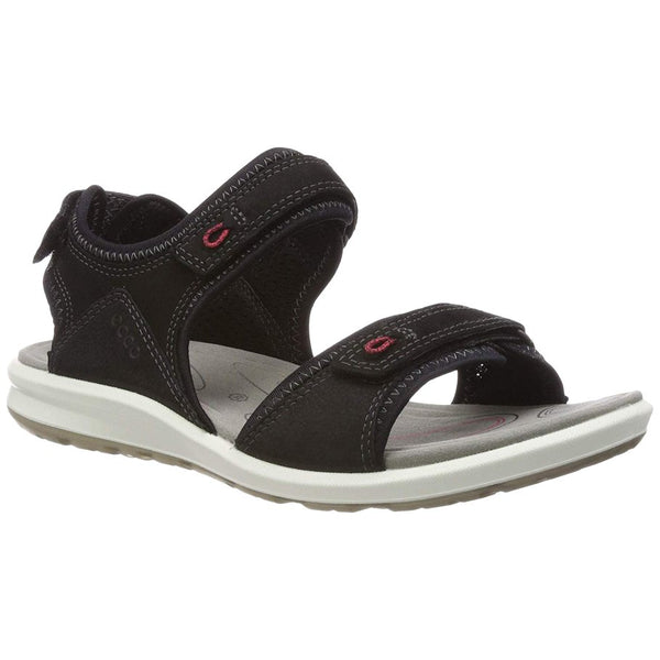 Ecco Cruise II Nubuck Womens Sandals#color_black teaberry