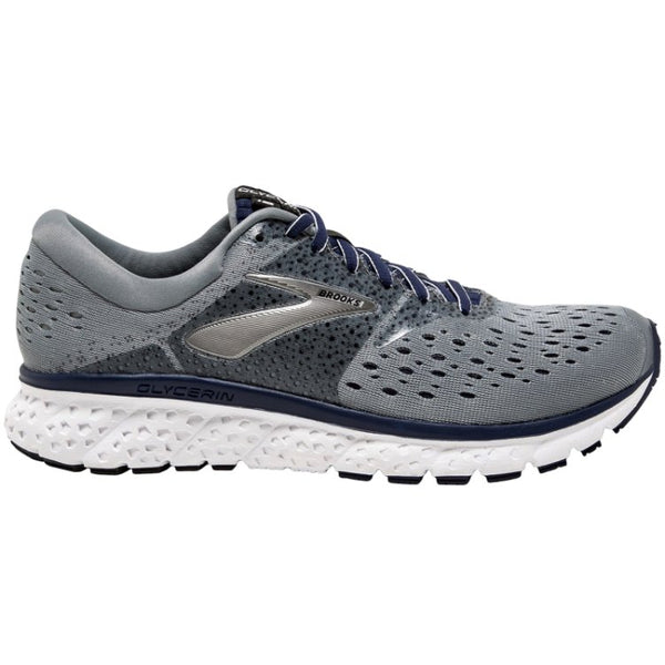 Brooks Glycerin 16 Mesh Mens Trainers#color_grey navy black