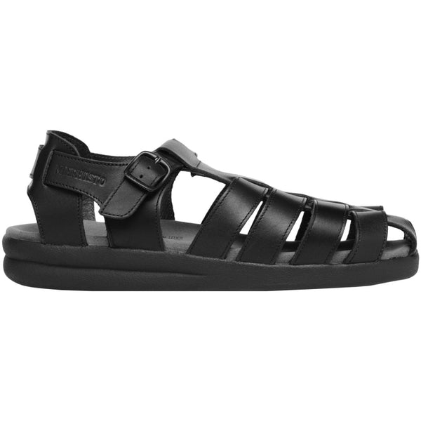 Mephisto Sam Leather Mens Sandals#color_black