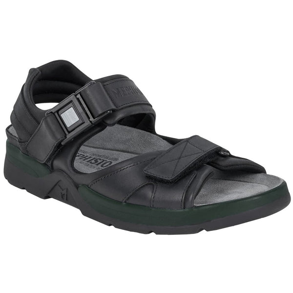 Mephisto Shark Fit Leather Mens Sandals#color_black
