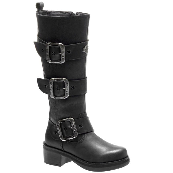 Harley Davidson Bostwick Leather Womens Boots#color_black