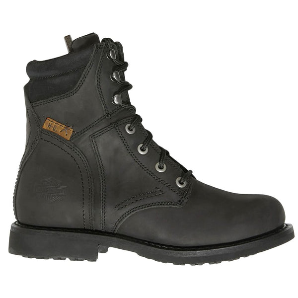 Harley Davidson Darnel Leather Mens Boots#color_black
