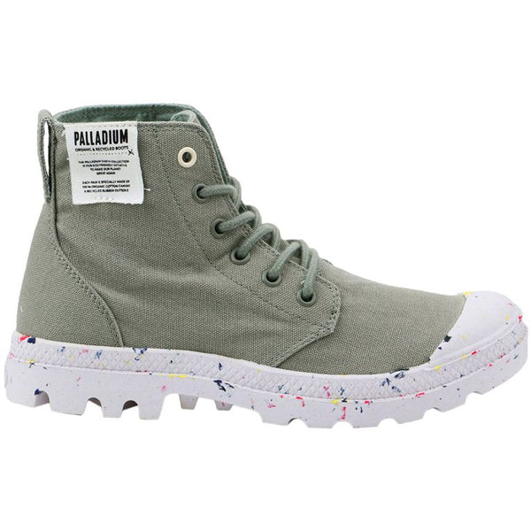 Palladium Pampa Hi Organic Canvas Womens Trainers#color_shadow