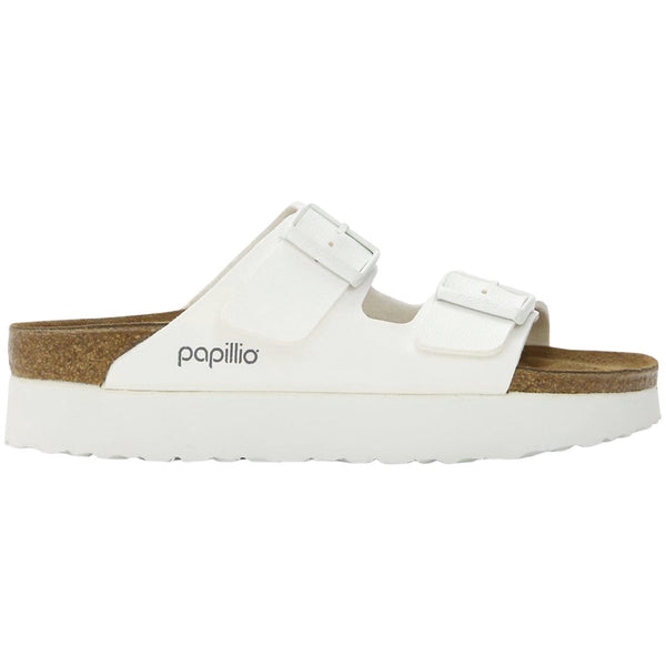 Papillio Arizona Platform Birko-Flor Womens Sandals#color_white