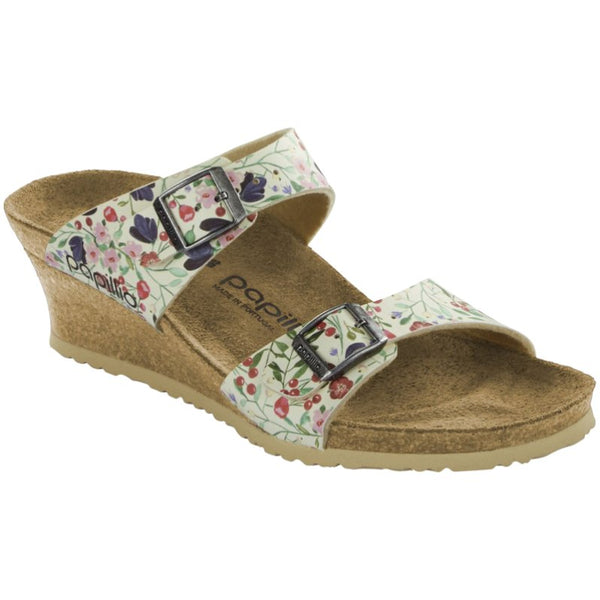 Papillio Dorothy Meadow Flowers Birko-Flor Womens Sandals#color_beige
