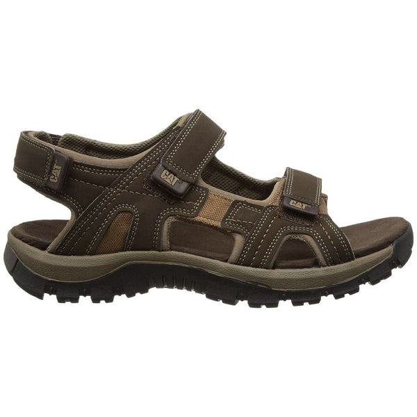 Caterpillar Giles Synthetic Textile Mens Sandals#color_dark brown