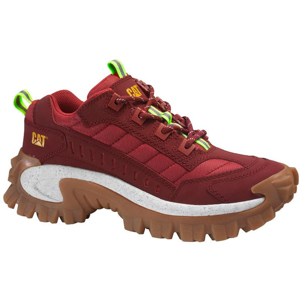 Caterpillar Intruder Nubuck Mesh Unisex Trainers#color_biking red