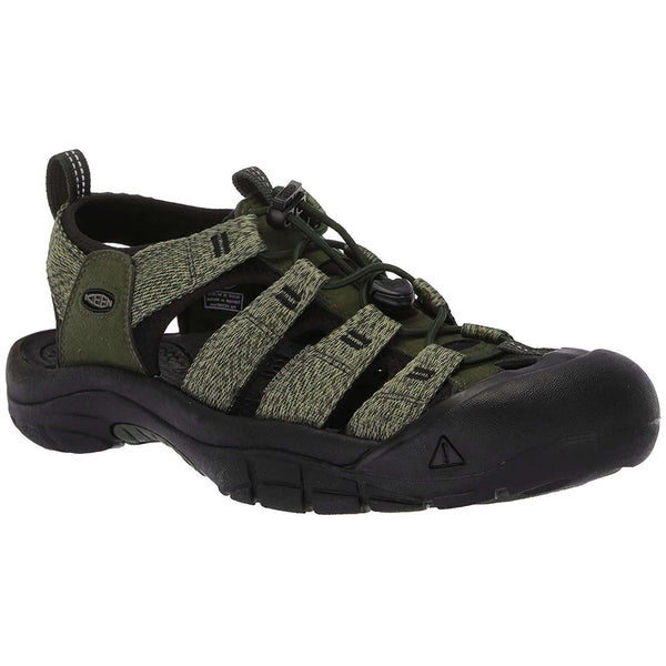 Keen Newport H2 Textile Mens Sandals#color_forest night black