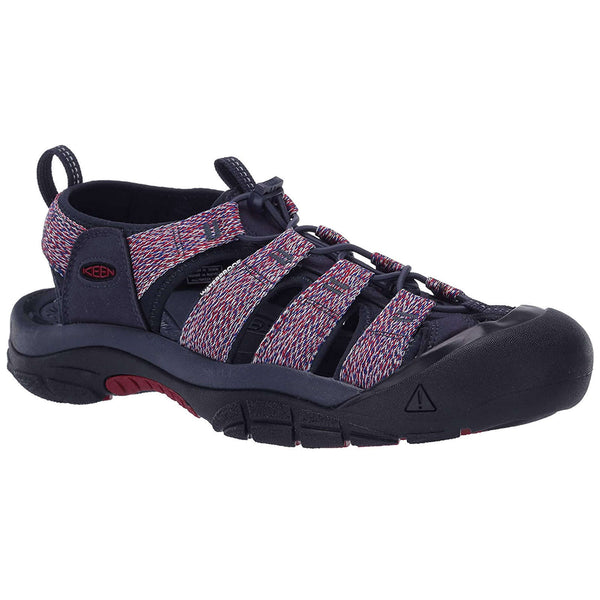 Keen Newport H2 Textile Mens Sandals#color_navy red