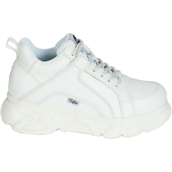 Buffalo Corin Synthetic Leather Womens Trainers#color_white