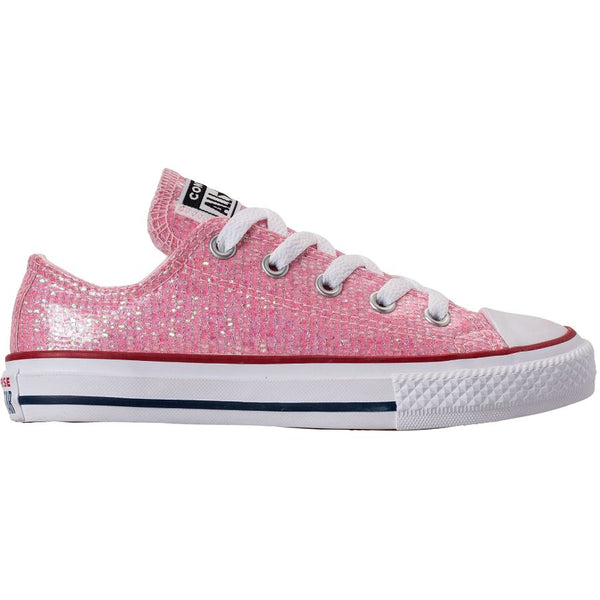 Converse CTAS Ox Glitter Textile Youth Trainers#color_pink foam
