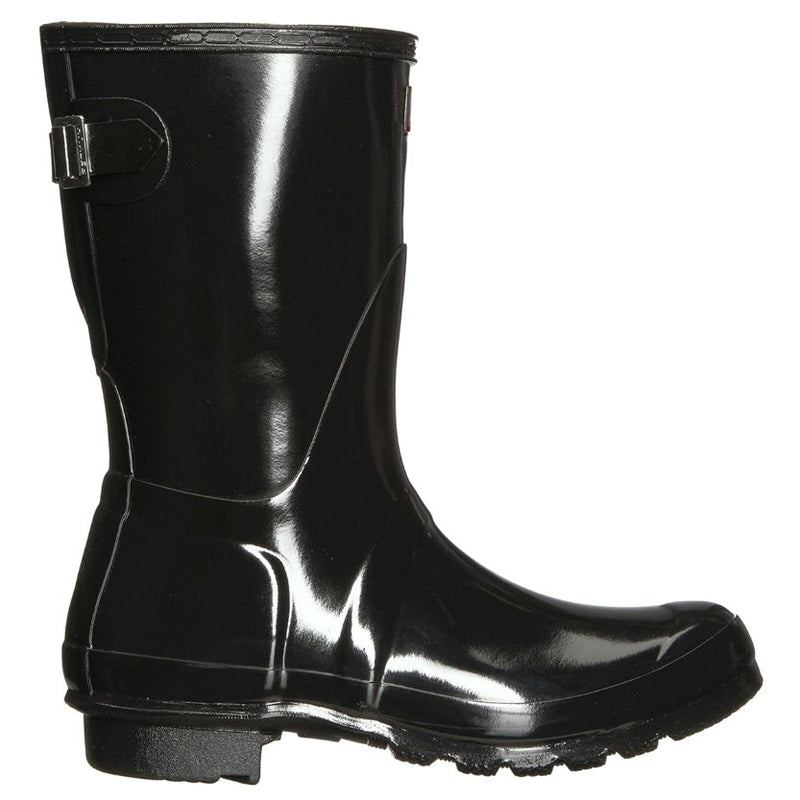 Hunter Original Back Adjustable Short Gloss Rubber Womens Boots