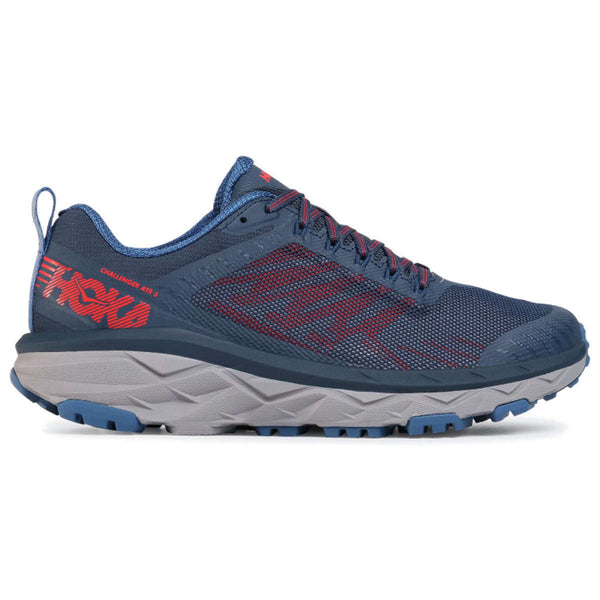 Hoka One One Challenger ATR 5 Mesh Mens Trainers#color_dark blue high risk red