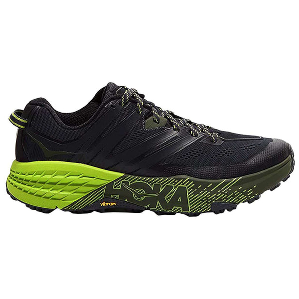 Hoka One One Speedgoat 3 Textile Synthetic Mens Trainers#color_ebony black