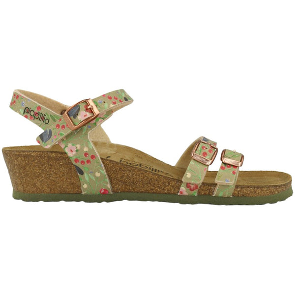 Papillio Lana Meadow Flowers Birko-Flor Womens Sandals#color_khaki