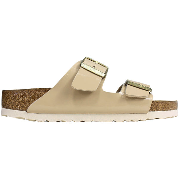 Birkenstock Arizona Birko-Flor Patent Unisex Sandals#color_sand