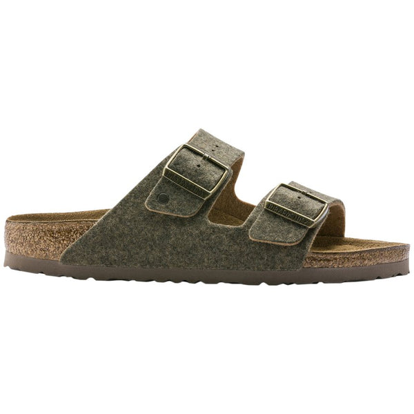 Birkenstock Arizona Doubleface Felt Unisex Sandals#color_khaki