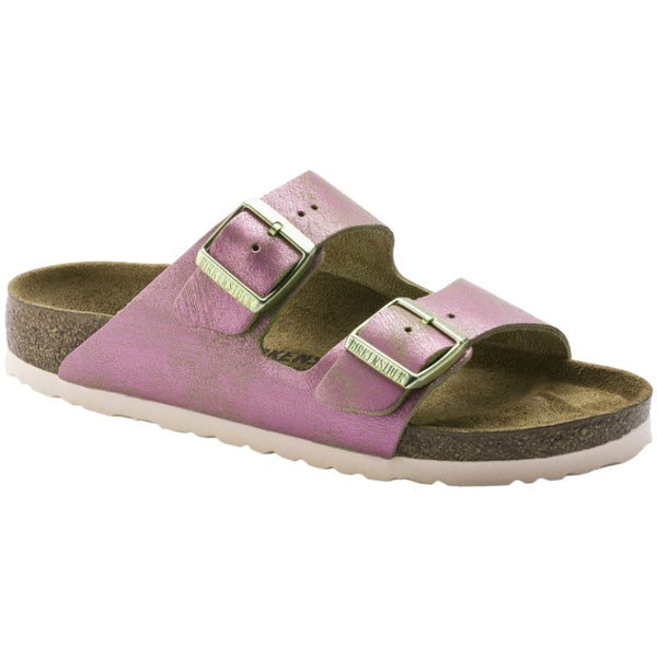 Birkenstock Arizona Washed Metallic Suede Unisex Sandals#color_pink