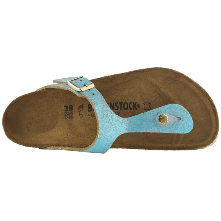 Birkenstock Gizeh Washed Metallic Suede Unisex Sandals