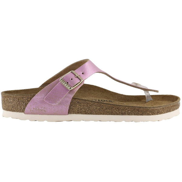 Birkenstock Gizeh Washed Metallic Suede Unisex Sandals#color_pink