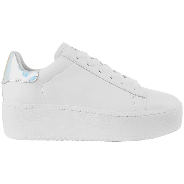Ash Cult Leather Womens Trainers#color_white silver