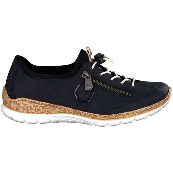 Rieker Nikita N4263 Synthetic Womens Shoes#color_pacific navy black
