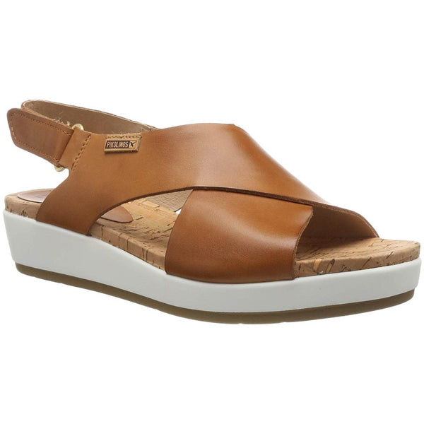 Pikolinos Mykonos W1G-0757C2 Leather Womens Sandals#color_brandy