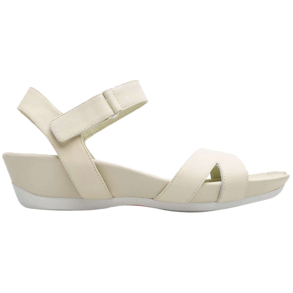 Camper Micro K200116 Leather Womens Sandals#color_light beige