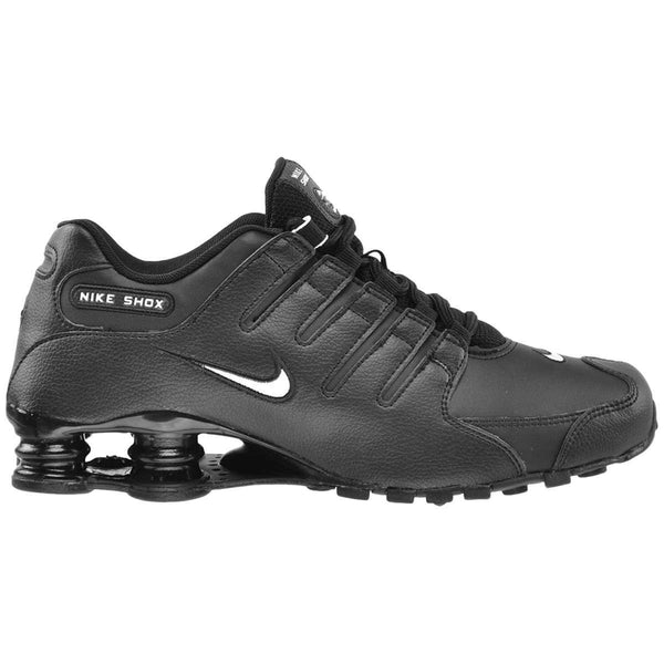 Nike Shox NZ Leather Mens Trainers#color_black white