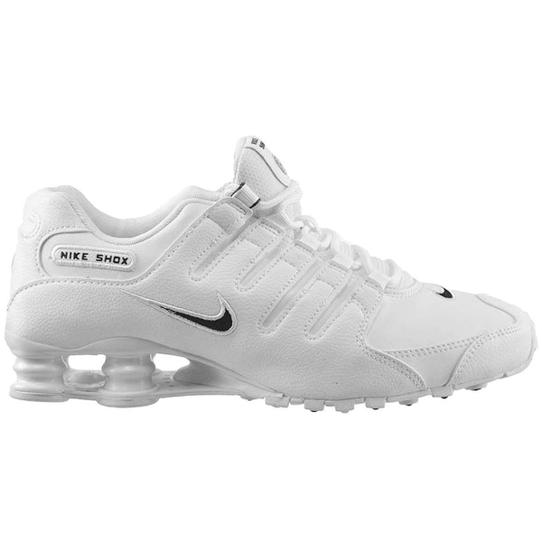 Nike Shox NZ Leather Mens Trainers#color_white black