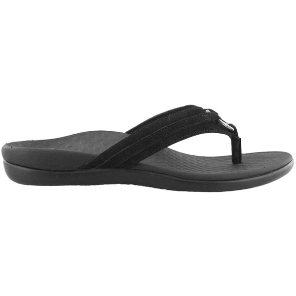 Vionic Islander Aloe Suede Womens Sandals#color_black