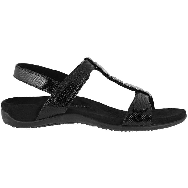 Vionic Rest Farra Lizard Synthetic Womens Sandals#color_black