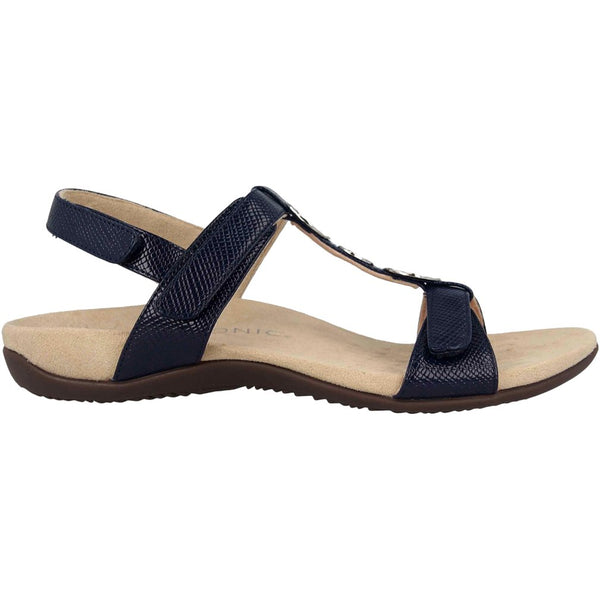 Vionic Rest Farra Lizard Synthetic Womens Sandals#color_navy