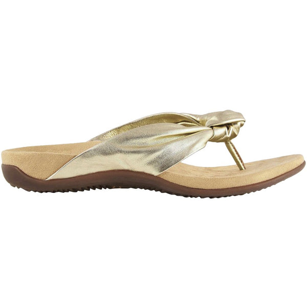 Vionic Rest Pippa  Leather Womens Sandals#color_champange