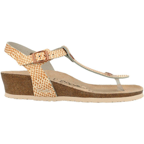Papillio Ashley Mermaid Leather Womens Sandals#color_cream