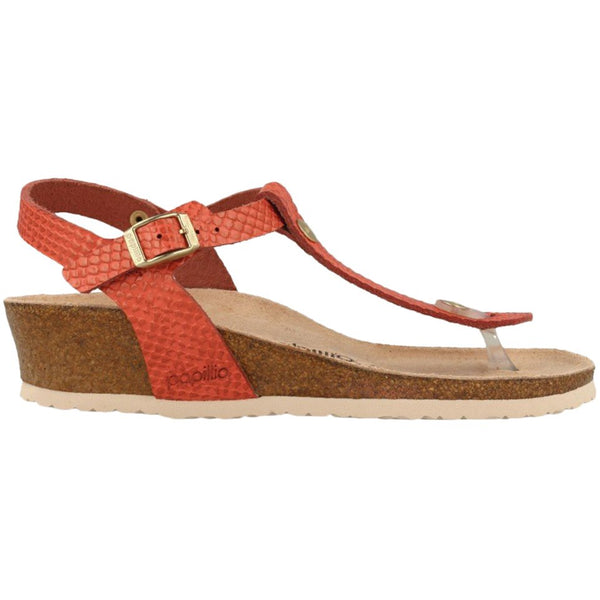 Papillio Ashley Mermaid Leather Womens Sandals#color_coral