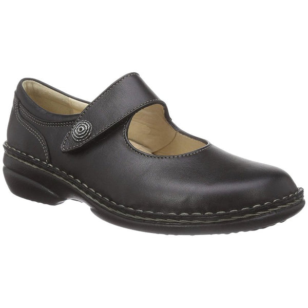 Finn Comfort Laval Leather Womens Shoes#color_black